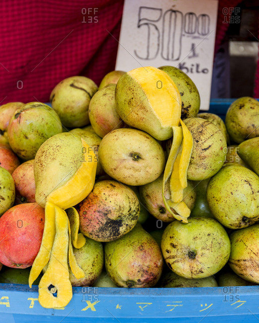 Apple mangoes for sale in the farmer's market, Philippines