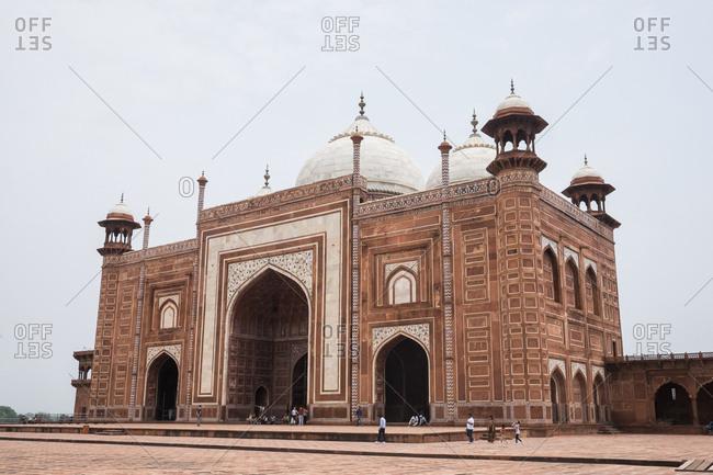 Mosque of the Taj Mahal in Agra, India