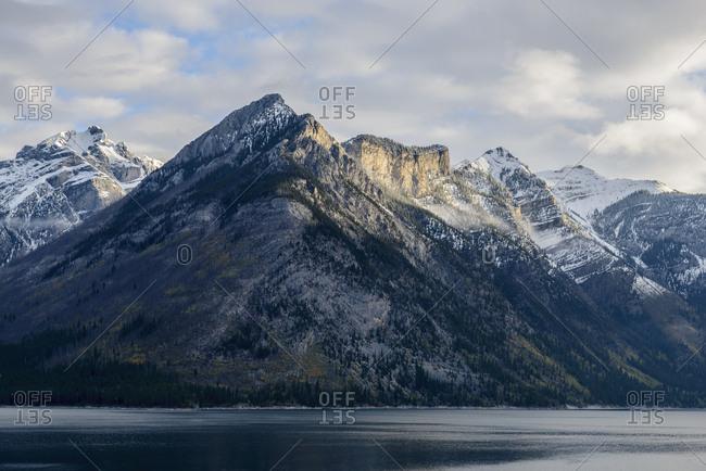 Canada, Alberta, Banff, Mountains and Lake Minnewanka