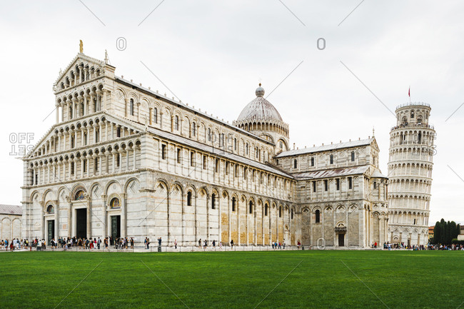 September 5, 2012: Italy, Tuscany, Pisa, Pisa Cathedral and Leaning Tower of Pisa