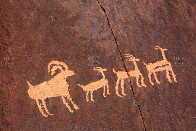 Petroglyphs on Newspaper Rock