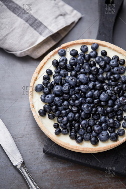 Blueberry tart from above