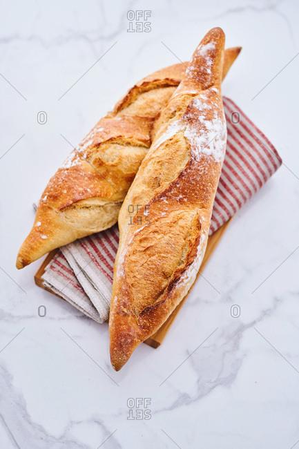 Rye baguettes