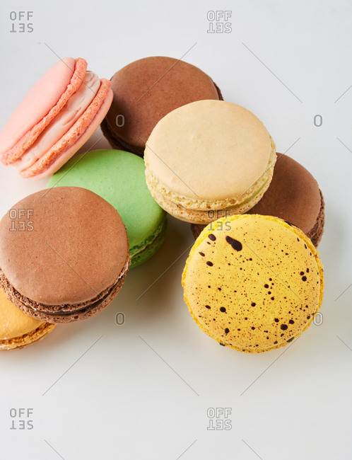 Macarons in pile