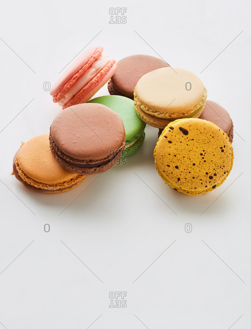 Macarons in pyramid stack