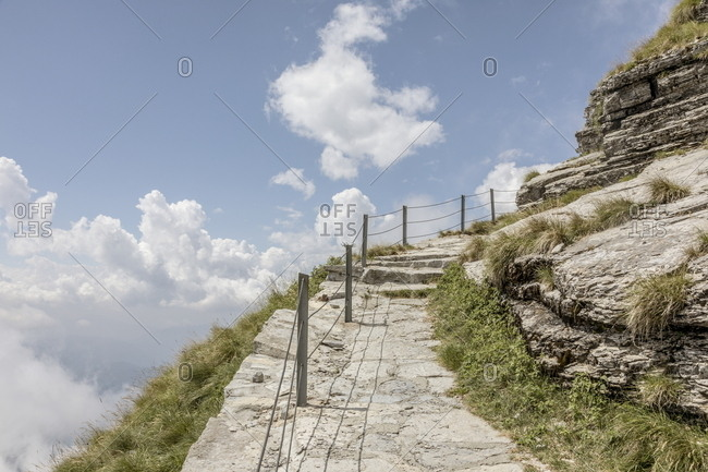Trail on Monte Generoso, Ticino, Switzerland