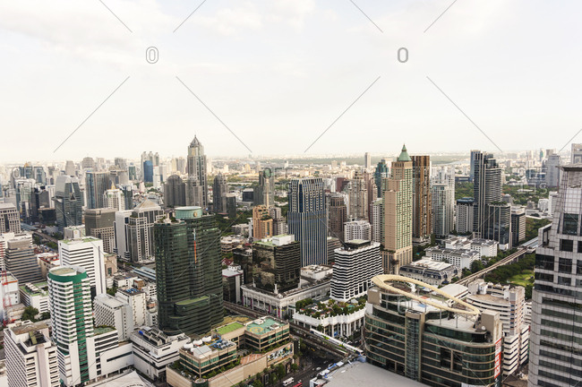 Bangkok, Thailand - May 20, 2012: Skyline of downtown Bangkok