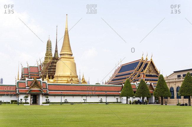 Traditional Buddhist temples in Bangkok, Thailand