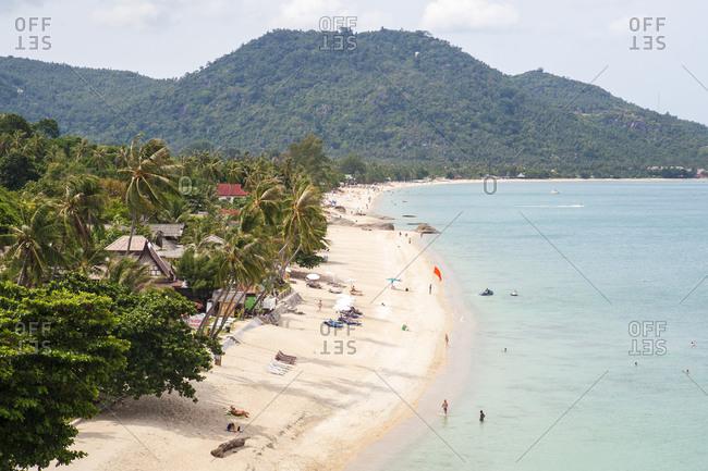 Koh Samui, Thailand - June 1, 2012: Scenic view of luxury resort at Lamai Beach