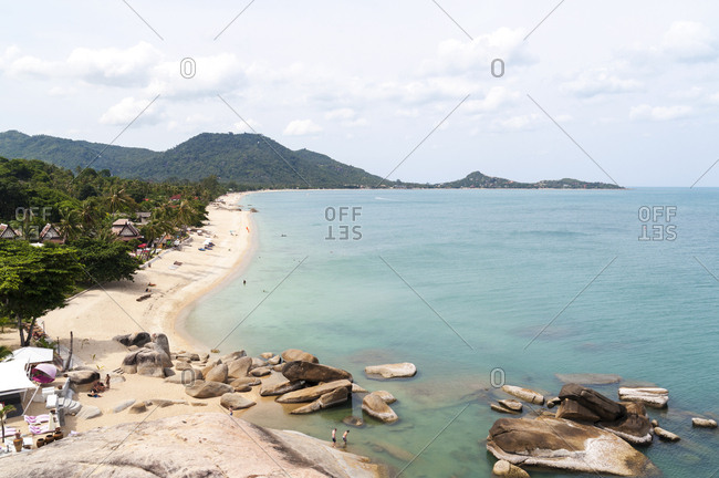 Scenic view of Lamai Beach on Koh Samui Island in Thailand