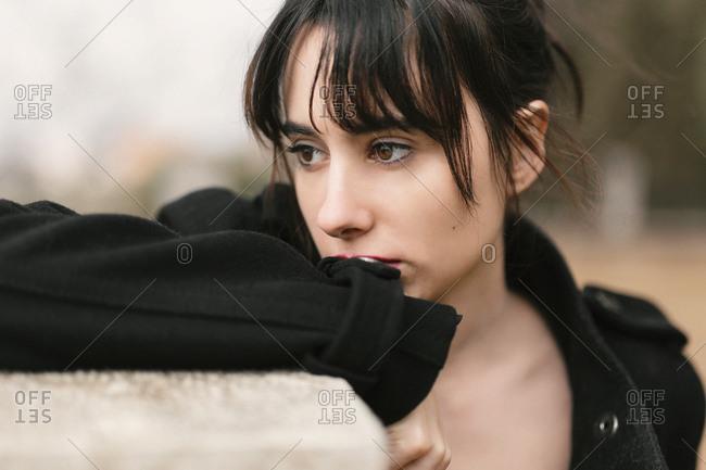 332d99fbd elegant brunette young model stock photos - OFFSET