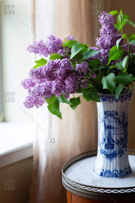 Fresh lilacs in a vase