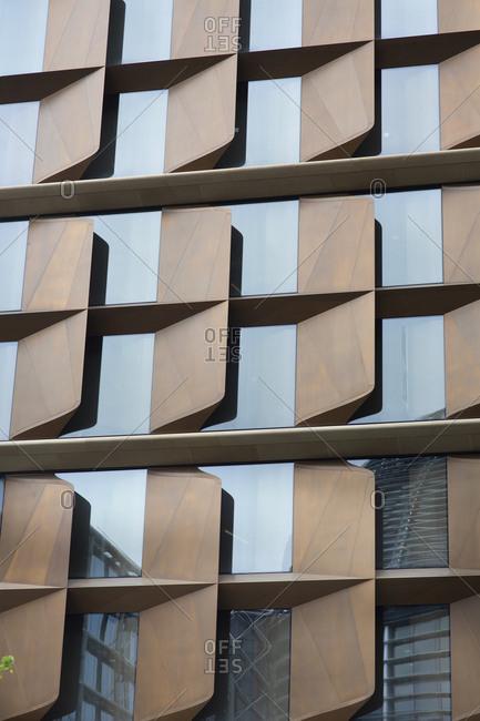 Exterior windows on contemporary building