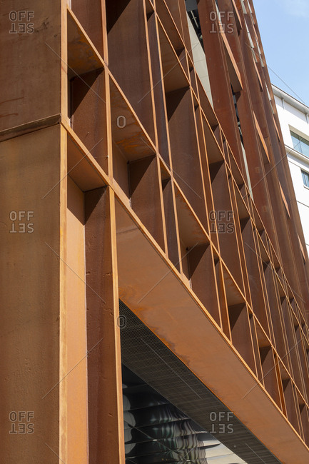Detail of building side with modern design