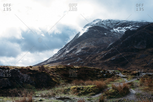 Mountains in the Scottish Highlands