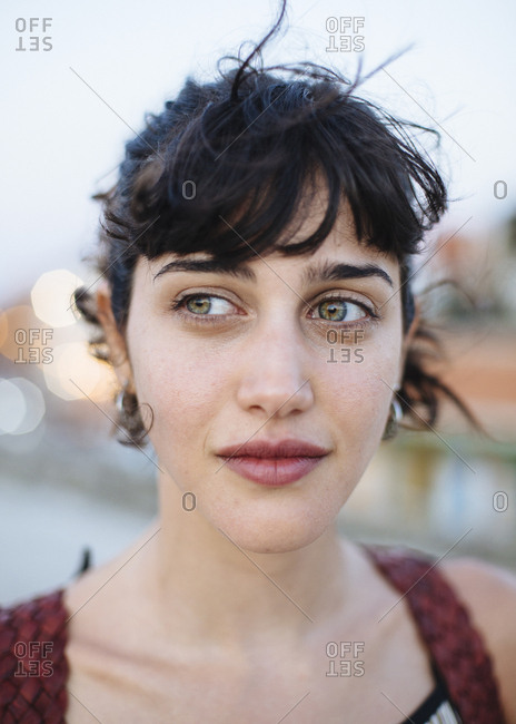 Cartagena de Indias, Colombia - February 6, 2018: Portrait of a young woman