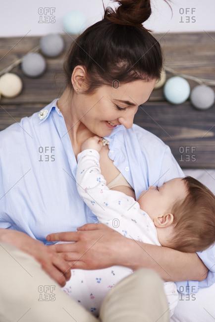Mother breastfeeding her baby