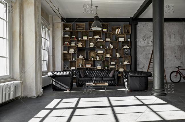 Interior of a loft flat
