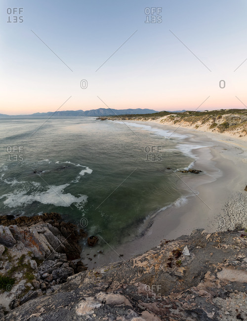 Panoramic landscape views over the Walkerbay Nature Reserve, South Africa