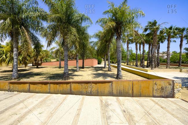Public municipal botanical park of Salou on the Costa Dorada on the coast of Catalonia Spain