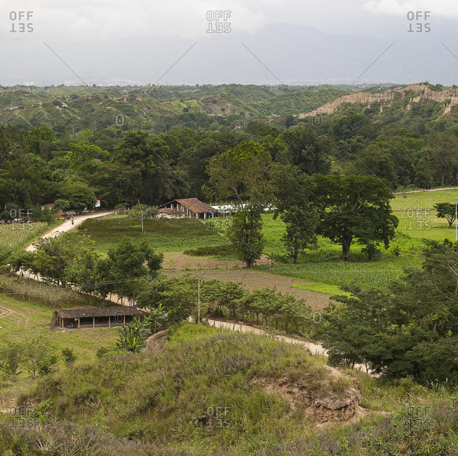 Landscape of the Colombian countryside