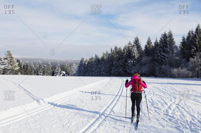 Cross country ski location, Liberec, Czech Republic, Europe