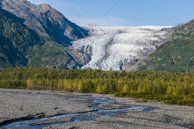 Exit Glacier, Kenai Fjords National Park, Alaska, United States of America, North America