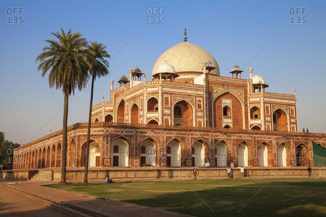 November 26, 2012: Humayun's Tomb, UNESCO World Heritage Site, New Delhi, Delhi, India, Asia