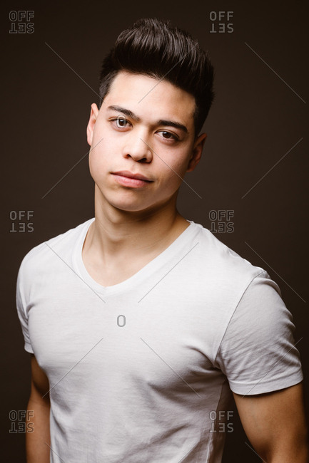 Young male posing in stylish casuals