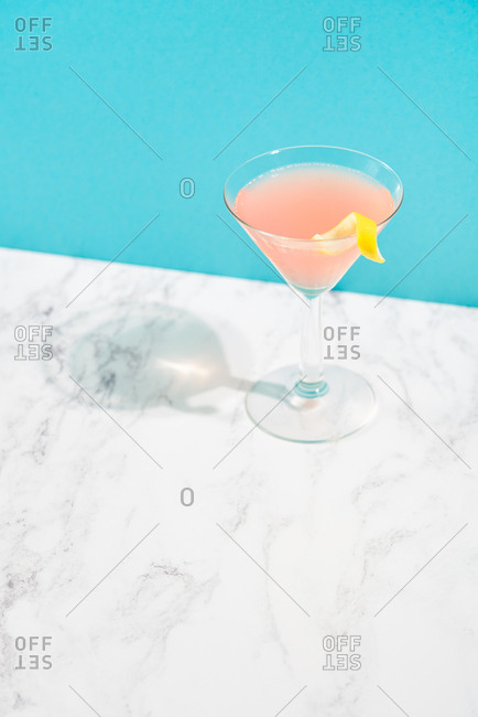 Single pink cocktail