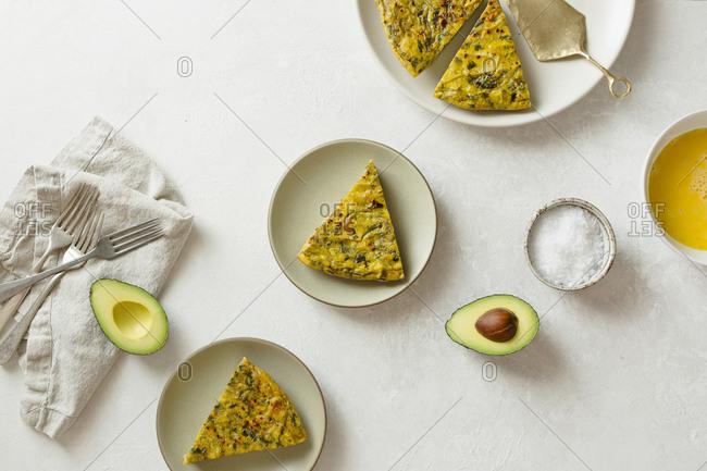 Frittata and avocado