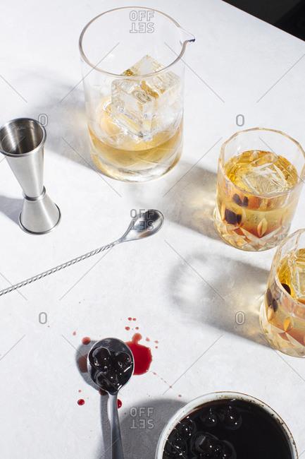 Whiskey and cherries
