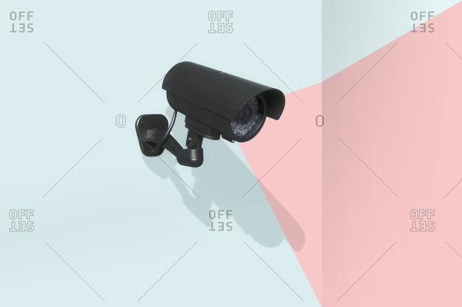 Security camera with shooting range