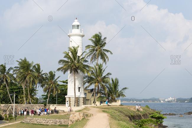 Galle, Sri Lanka - October 14, 2012: Lighthouse in Galle, Sri Lanka