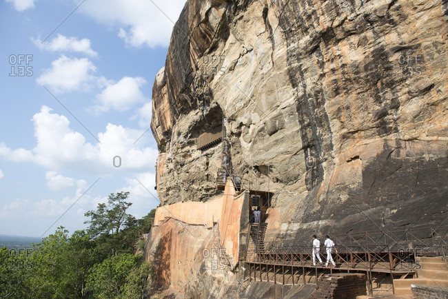 Sigiriya Rock, Sri Lanka - September 27, 2012: Sigiriya Rock