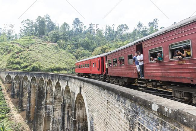 Ella, Sri Lanka - October 5, 2012: Railway, Ella, Sri Lanka