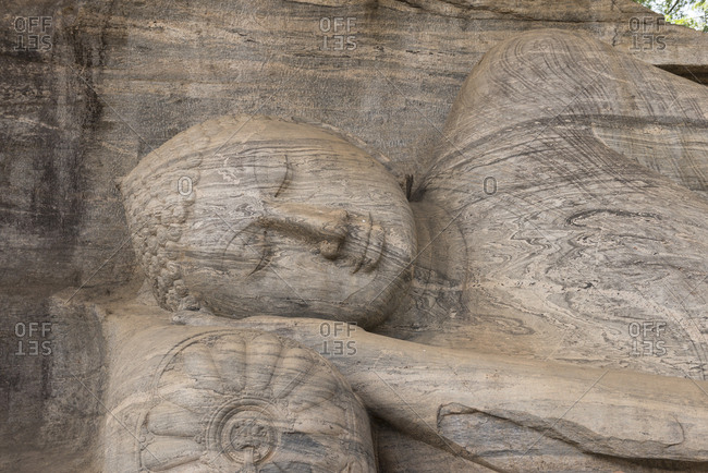 Sleeping Buddha at Pollonaru Temple, Pollonaru, Sri Lanka