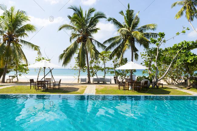 Luxury resort on Mirissa Beach, Sri Lanka