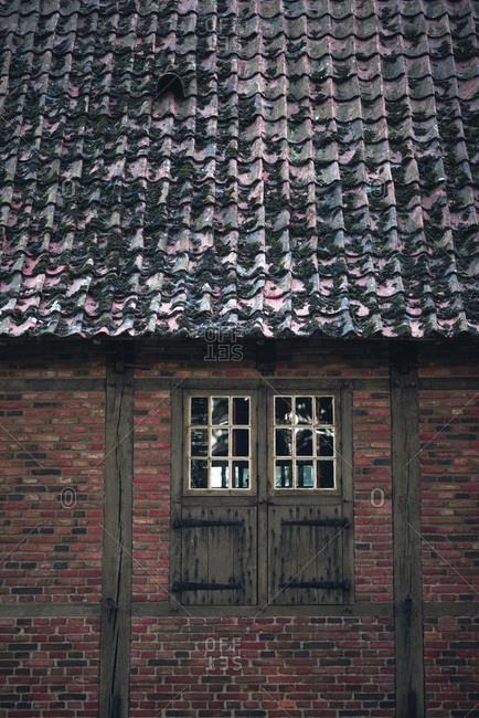 Window in historical dutch farmhouse.