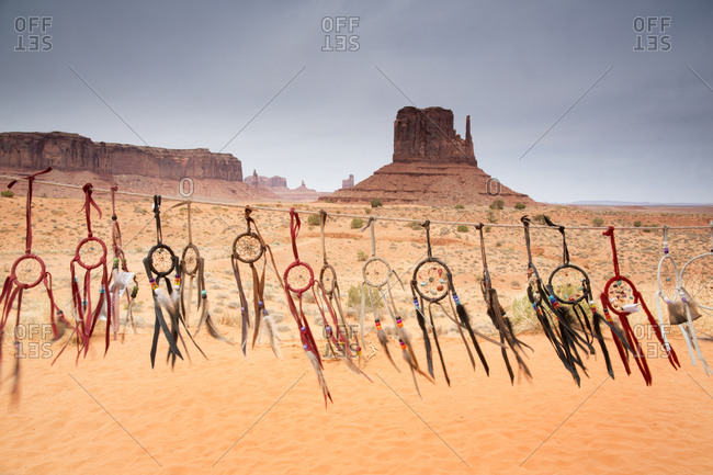 Various dreamcatchers for sale at Monument Valley Navajo Tribal Park