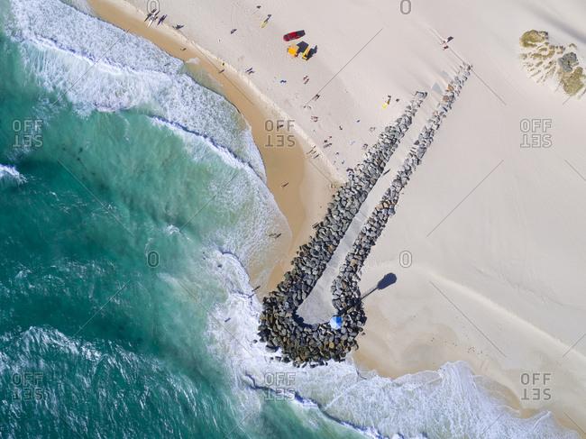 Aerial view of City Beach in Australia