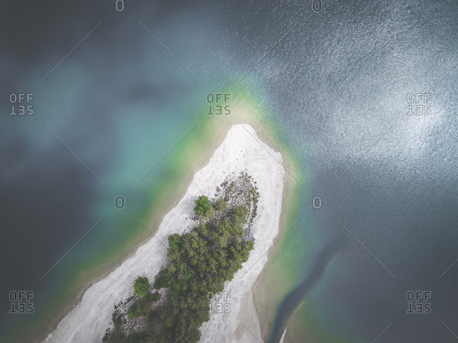 Aerial view of coat in Mallorca Spain