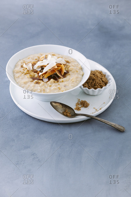 Toasted coconut and brown sugar oatmeal