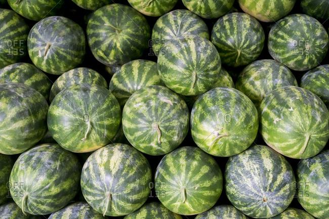 Watermelon in a market in Salvador de Bahia, Brazil