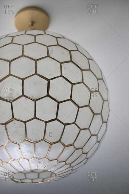 Close-up of round hanging lamp