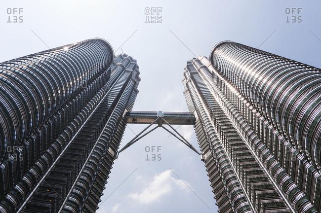 Kuala Lumpur, Malaysia - May 22, 2012: View underneath Petronas Towers