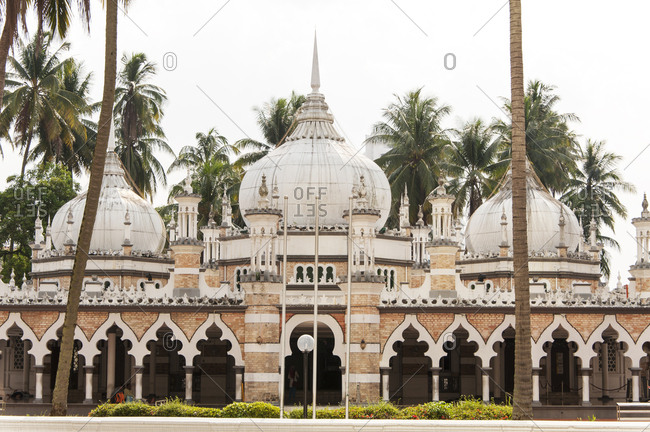 Front view of Jamek Mosque in Malaysia