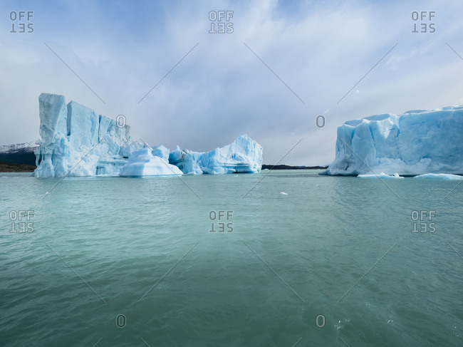 Argentina- Patagonia- El Calafate- Puerto Bandera- Lago Argentino- Parque Nacional Los Glaciares- Estancia Cristina- Spegazzini Glacier- iceberg