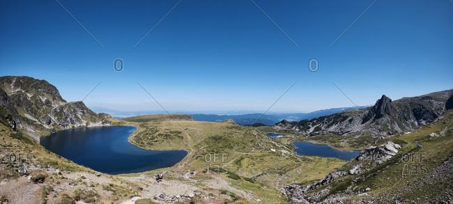 Bulgaria- Rila mountains- panoramic view of mountain lakes
