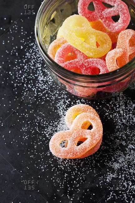 Sugar Pretzels in glass